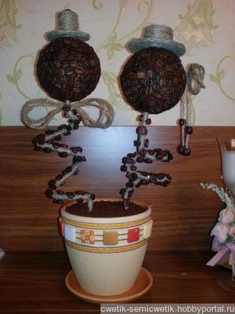 Топиарий из кофе ручной работы на заказ