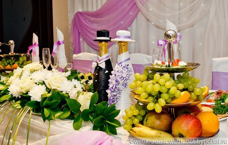 Украшения для свадебных бутылок ручной работы на заказ