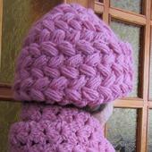 Комплект шапка и шарф Нежно-розовый