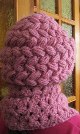 Комплект шапка и шарф Нежно-розовый ручной работы на заказ
