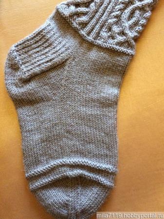 Носки с аранами ручной работы на заказ