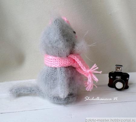 Кошечка с белочкой  - интерьерная игрушка ручной работы на заказ