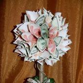 Денежное дерево (топиарий из купюр)