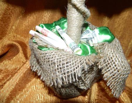 Денежное дерево (топиарий из купюр) ручной работы на заказ