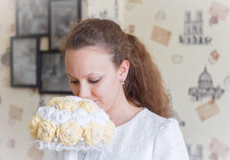 Букет невесты крючком ручной работы на заказ
