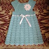 Платье-туника для девочки из 100% хлопка