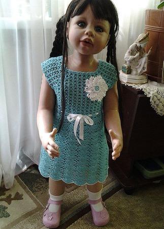 Платье-туника для девочки из 100% хлопка ручной работы на заказ