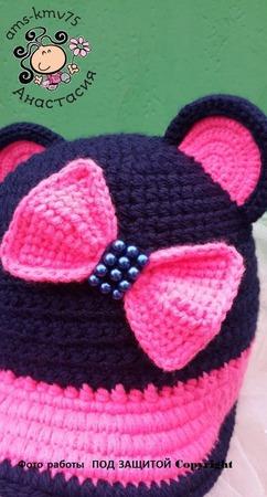 Кепка Мышка-мармышка ручной работы на заказ