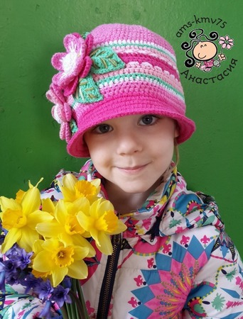 """Шляпка кепка """"Калейдоскоп весны"""" ручной работы на заказ"""