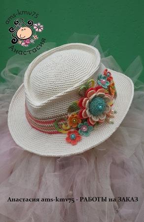 """Шляпа а-ля мужская """"Летняя сказка"""" ручной работы на заказ"""