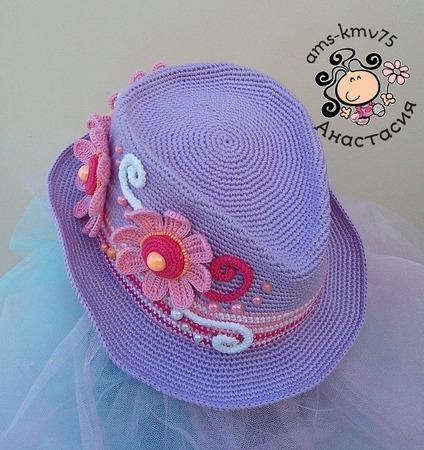 "Шляпа а-ля мужская для леди ""Весенняя неизбежность"" ручной работы на заказ"