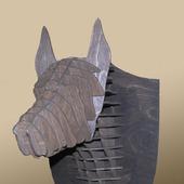 3D декор головы собаки