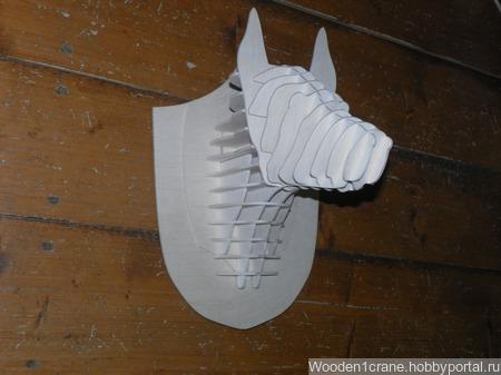 3D декор головы собаки ручной работы на заказ