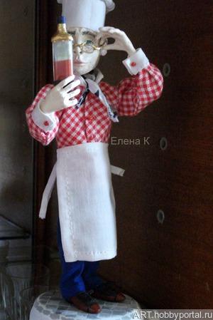"""Кукла """"Повар"""" ручной работы на заказ"""