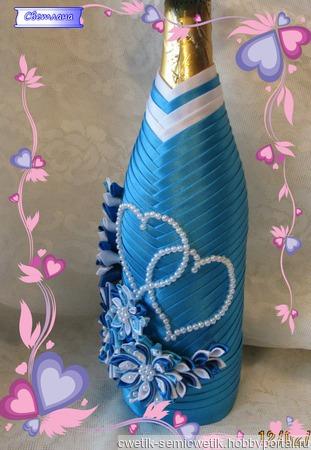 Украшения для  бутылок ручной работы на заказ