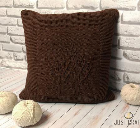 Подушка декоративная интерьерная  Дерево Жизни ручной работы на заказ