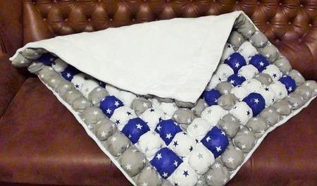 """Детское одеяло бомбон """"Звёзды"""" ручной работы на заказ"""