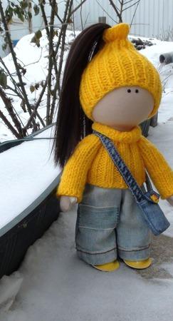 Текстильная кукла 30 см ручной работы на заказ