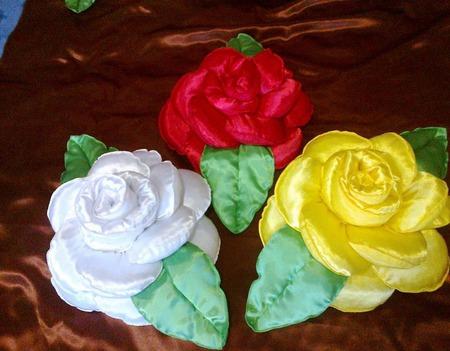 Декоративные подушки Цветы ручной работы на заказ