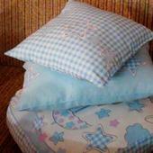 Набор детских подушек  голубой
