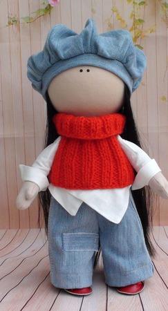 Кукла текстильная  37 см ручной работы на заказ