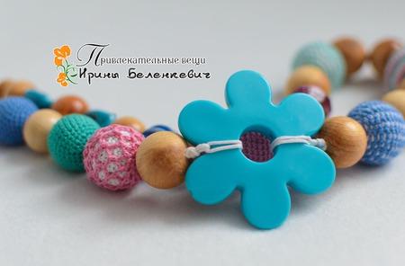 """Слингобусы """"Голубой цветок"""" ручной работы на заказ"""