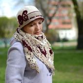 Комплект для весны Шляпка + минишаль