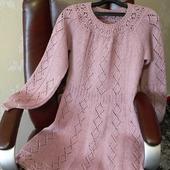 Описание вязания приталенного платья с круглой кокеткой и рукавом «Реглан».