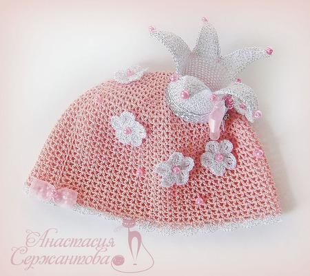 "Летняя шапочка ""Принцесса"" ручной работы на заказ"