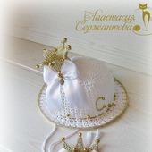 """Шляпка """"Золотая принцесса"""" и брошь"""