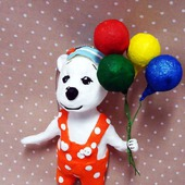 "Ватная игрушка ""Мишка с шариками"""