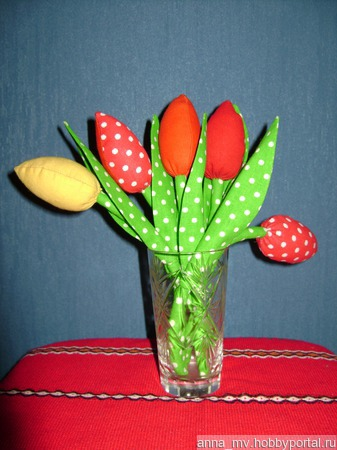 Тюльпаны в технике Тильда ручной работы на заказ