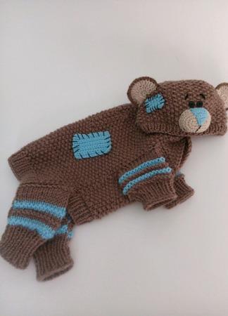 """Комбинезон для собачки """"Мишка Тедди"""" ручной работы на заказ"""