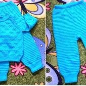 Описание вязания джемпера и штанишек  для малыша «Реглан сверху»