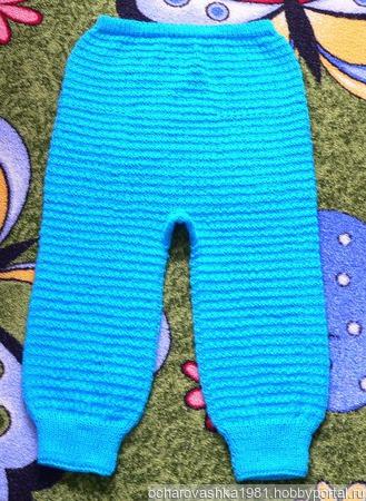 Описание вязания джемпера и штанишек  для малыша «Реглан сверху» ручной работы на заказ