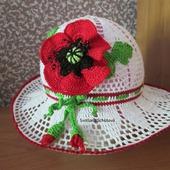 Летняя шляпка с маком