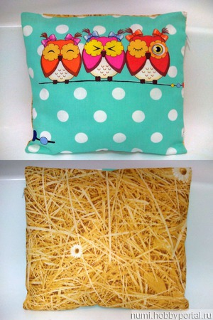 Подушка декоративные Совы ручной работы на заказ