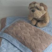 Набор для малыша в коляску (кроватку) плед+подушка