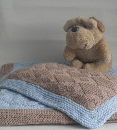 Набор для малыша в коляску(кроватку) плед+подушка ручной работы на заказ