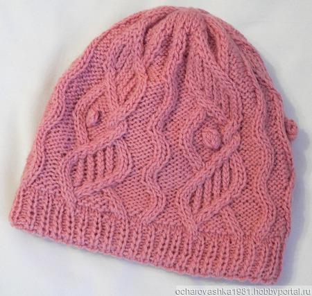 Мастер класс. Женская шапка «Пудра» ручной работы на заказ