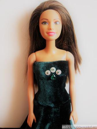 Платье для куклы Barbie новое ручной работы на заказ