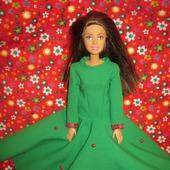 """Платье для Барби """"Земляничная поляна"""""""