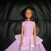 Платье для Барби. Сиреневая нежность