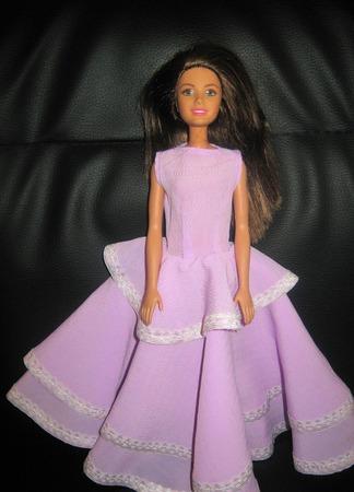 Платье для Барби. Сиреневая нежность ручной работы на заказ