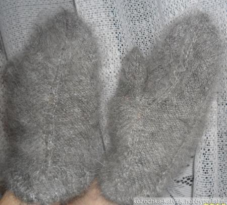 Варежки-рукавички (урюпинский пух) ручной работы на заказ
