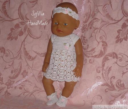 """Мастер - класс по вязанию комплекта """"Нежность"""" для кукол Беби Бон ручной работы на заказ"""