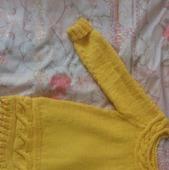 Платье на девочку желтое с аранами