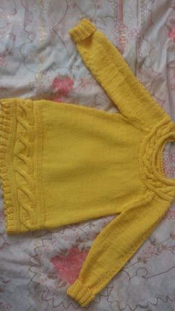 Платье на девочку желтое с аранами ручной работы на заказ