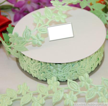 """Декоративная лента """"Цветы с листьями"""" ручной работы на заказ"""