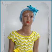 """Платье """"Сhamomile"""" вязаное для девочки"""